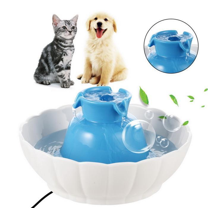 2.1L Pets Ceramic Watter Fountain for Dogs Cats Healthy Drinking Bowl Electric 0