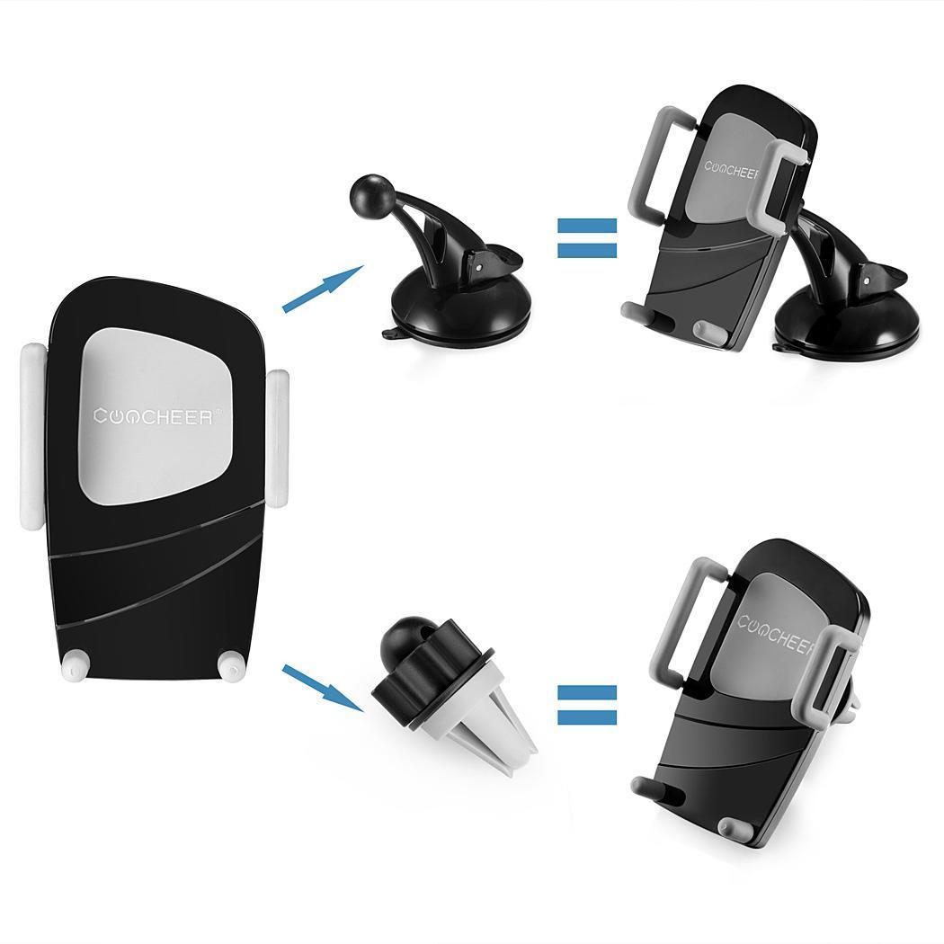 Air Vent Dashboard Windshiled Mount Car Smartphone Holder Mount Black Color 1