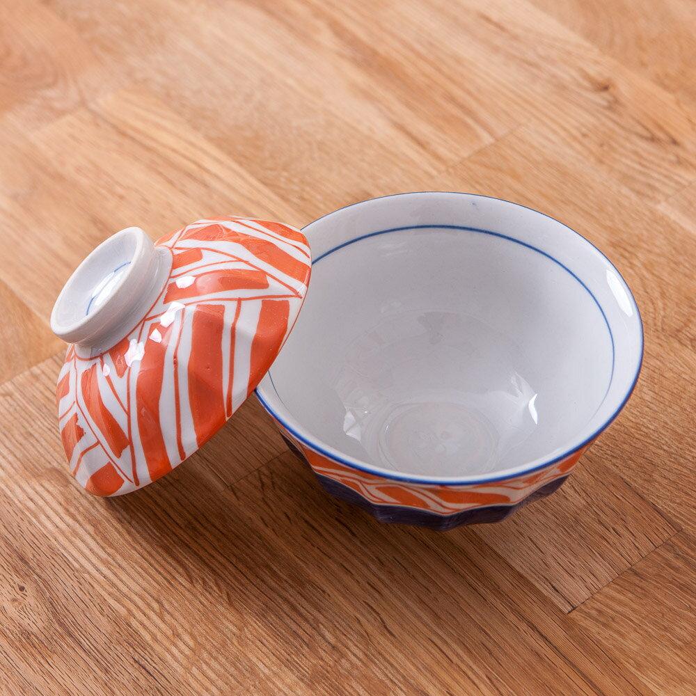 【絕版品最低3折起】青窯手繪幾何附蓋麵碗14cm-生活工場 3