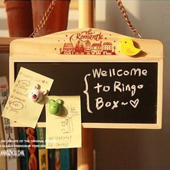 ♚MY COLOR♚鏈條懸掛式小黑板 迷你 粉筆 板擦 記事 兒童 塗鴉 磁鐵 辦公室 提醒 求婚【K85-2】
