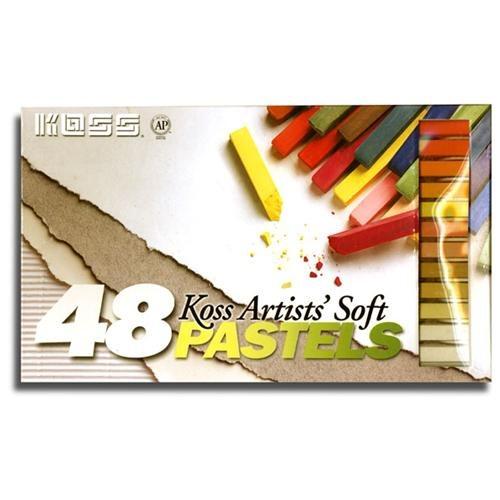 Artist's Pastel Chalk Set Has 48 Velvet Smooth Colors 581e12074ef561d1e928e43deb920215