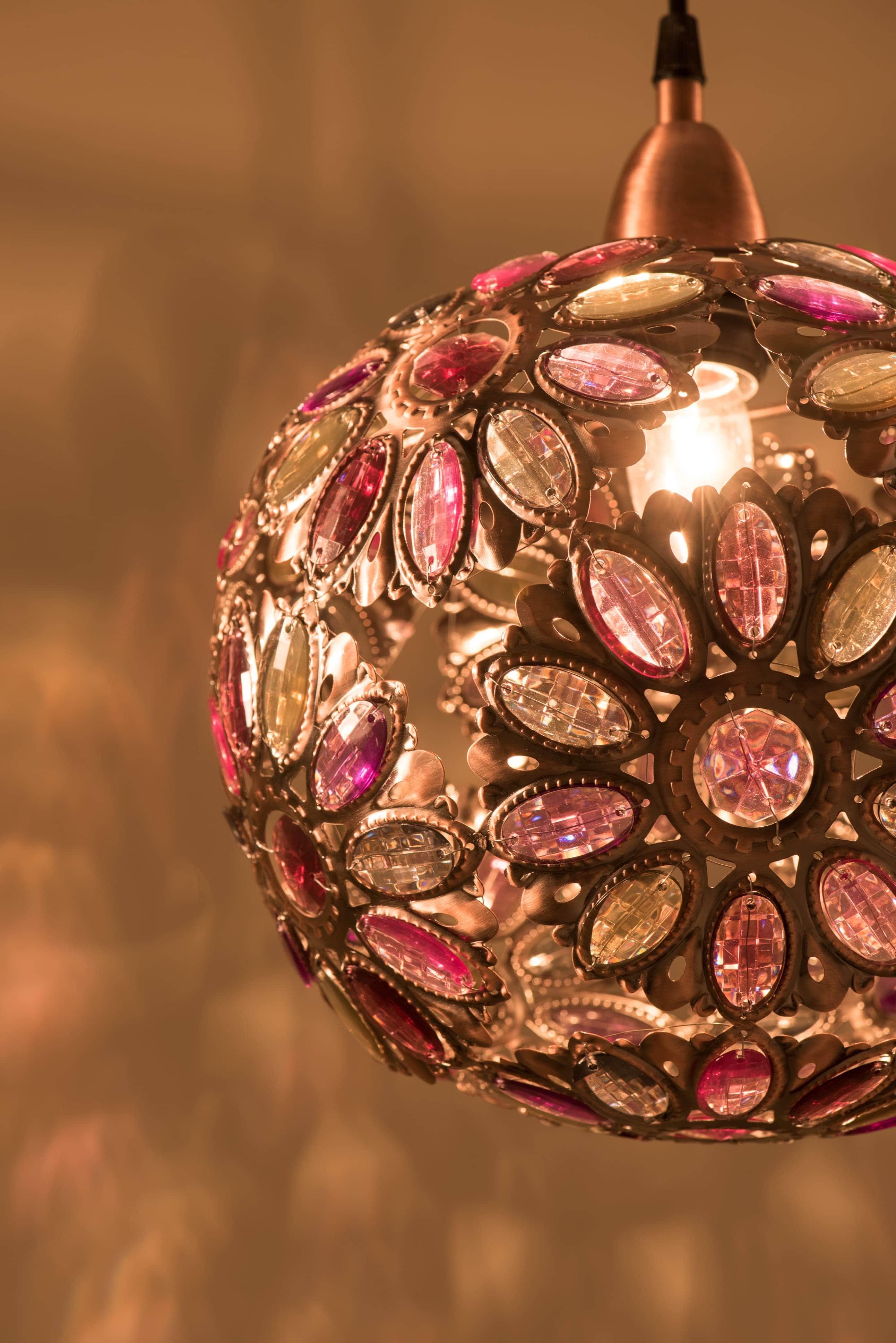 紅銅波斯蘭菊吊燈-BNL00087 8