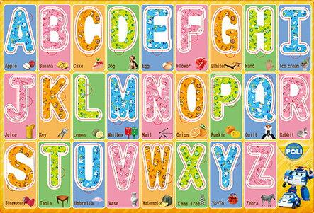 8開救援小英雄 波力 ABC字母拼圖 PUZ1276B/一個入{促120} 嵌入板幼兒拼圖 MIT製 正版授權
