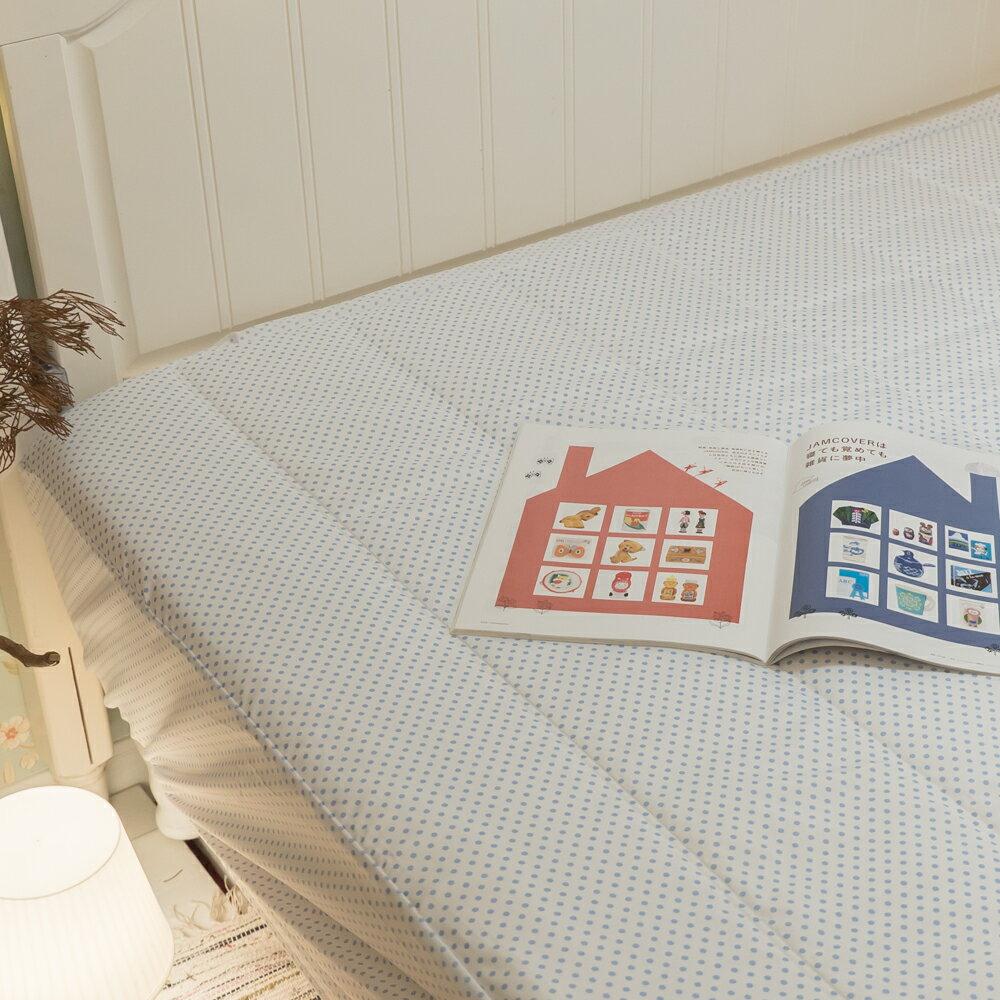 【點點】日系床包式保潔墊(尺寸可選)抗菌防蟎防污 台灣製 厚實鋪棉 可水洗 好窩生活節 3