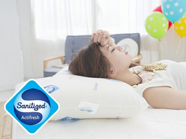 [Snug Nights]國際抗菌技術sanitized山寧泰☆40×65cm防蹣抗菌100%天然乳膠枕*馬來西亞乳膠/彈性釋壓