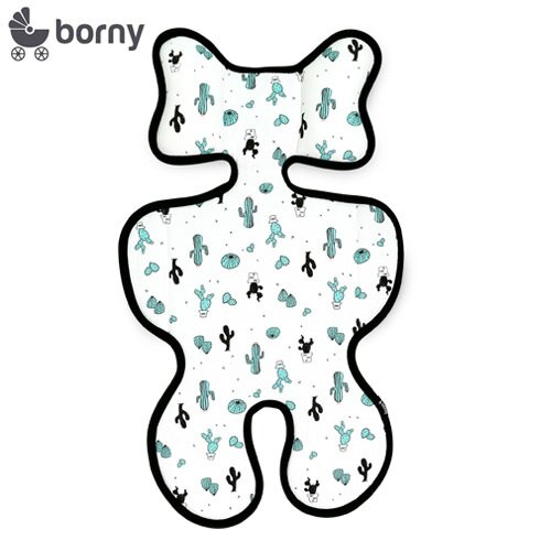 【限量送NUK嬰兒洗衣精60ml】韓國【Borny】3D立體推車涼墊(推車、汽座適用) (仙人掌) - 限時優惠好康折扣