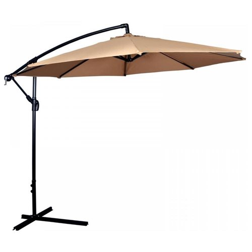 10 ft offset patio hanging umbrella tan 0 - Umbrella Patio