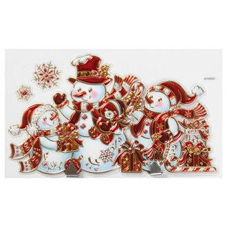 聖誕壁貼 附掛勾 雪人 NITORI宜得利家居