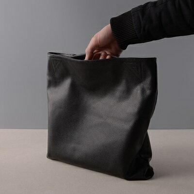 肩背包真皮手提包-黑色牛皮摺疊簡約女包包73ut41【獨家進口】【米蘭精品】 2