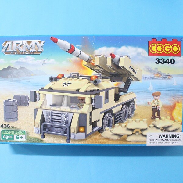 <br/><br/>  COGO積高積木 3340 軍事系列-導彈車積木 CF120879 (大) 約436片入/一盒入{促800}~可與樂高混拼喔!!~<br/><br/>