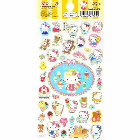 【真愛日本】16042200063貼紙-KT夏日冰淇淋   三麗鷗 Hello Kitty 凱蒂貓  貼紙 黏貼 卡片裝飾 文具