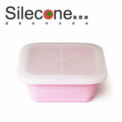 Silecone 喜麗康摺疊式樂活餐盒/玫瑰粉/730ml