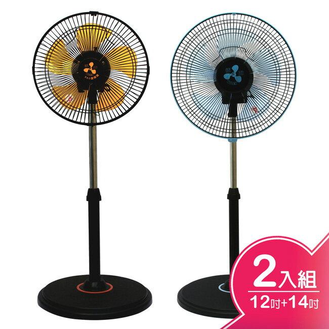 <br/><br/>  【伍田】12吋+14吋超廣角循環涼風扇 WT-1211S+WT-1411S<br/><br/>