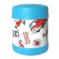 THERMOS 膳魔師保溫杯/保溫瓶/燜燒鍋推薦到膳魔師0.3L消防車不鏽鋼真空食物罐 F3001HRB6(限量促銷)