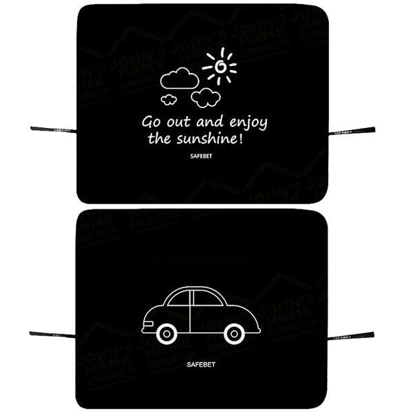 汽車前擋風玻璃2層遮光布 磁鐵吸附印花遮陽擋 遮陽簾 遮陽板 2色可選【Q440】《約翰家庭百貨 好窩生活節 1
