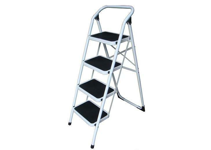 金梯屋LH-04鐵梯  大踏板4階工作梯 扶手梯 折疊梯