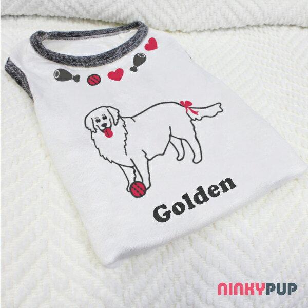 [毛孩姓名訂做款] 黃金獵犬 公主款 Golden Retriever Girl 反光衣(毛孩款)