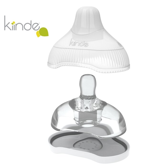 Kiinde - 奶瓶轉接殼專用奶嘴 (附收納盒) 快速 12月+ 2入