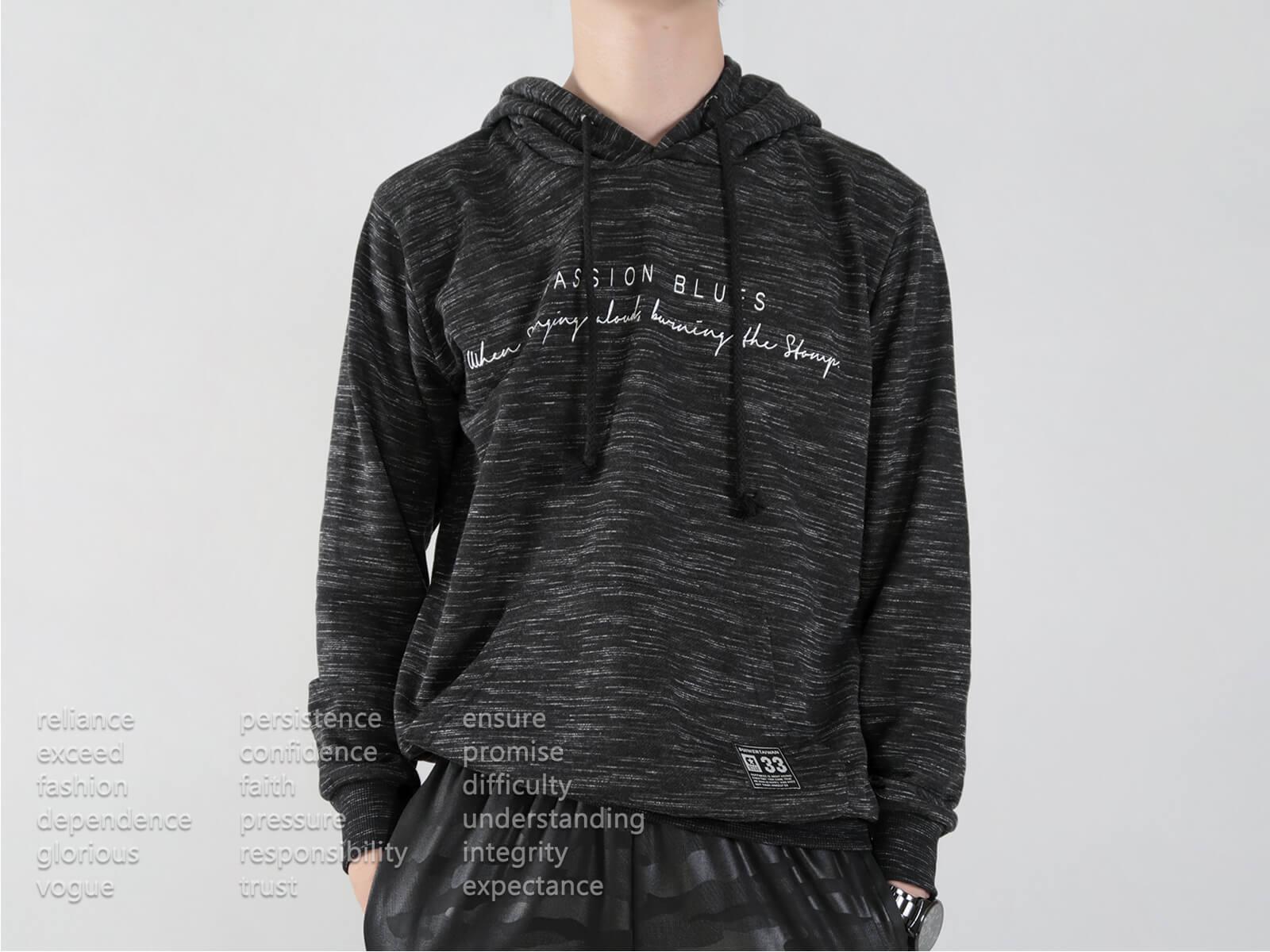 台灣製紋理保暖帽T 連帽T恤 休閒連帽外套 長袖T恤 帽子T恤 連帽上衣 長袖上衣 休閒長TEE 灰色T恤 黑色T恤 MADE IN TAIWAN HOODIE T-shirt (310-0772-21)黑色、(310-0772-22)灰色 L XL(胸圍44~47英吋) [實體店面保障] sun-e 6