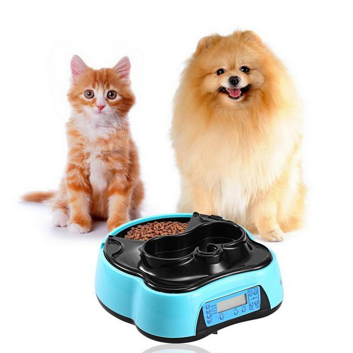 Automatic Pet Feeder with Voice Recorder Timer Programmable Food Dispenser 2