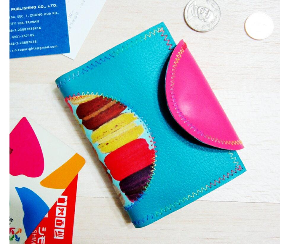 馬卡龍票卡名片夾零錢包Card case coin purse 全程 製作 Anitaje
