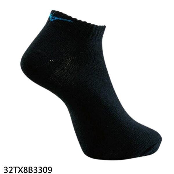 【登瑞體育】MIZUNO男款運動薄底踝襪(3雙入)_32TX8B3309