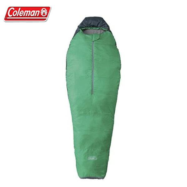 【露營趣】ColemanCM-6925圓錐形綠睡袋C10木乃伊型睡袋纖維睡袋化纖睡袋露營睡袋保暖睡袋