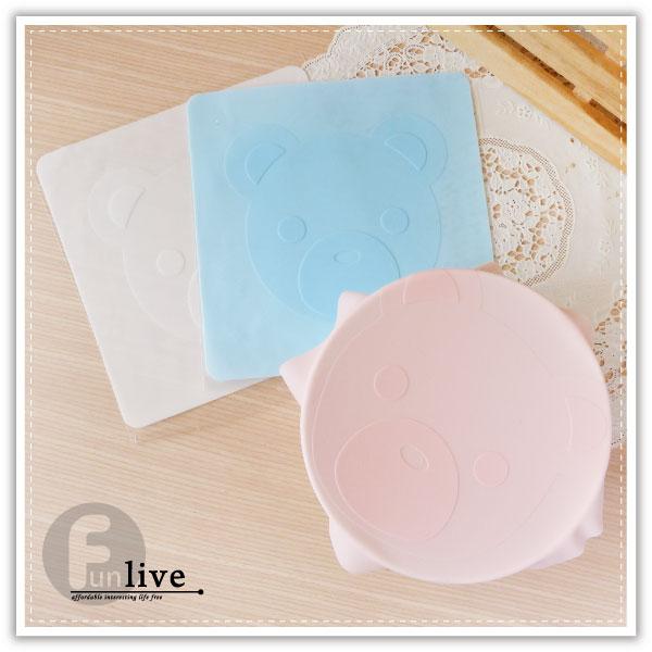 【aife life】小熊矽膠保鮮膜/真空保鮮蓋/可重覆使用/多功能/廚房/防滑/微波爐/隔熱手套/防滑止滑