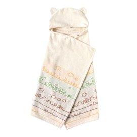 Hoppetta - 有機棉童趣森林熊耳朵浴巾