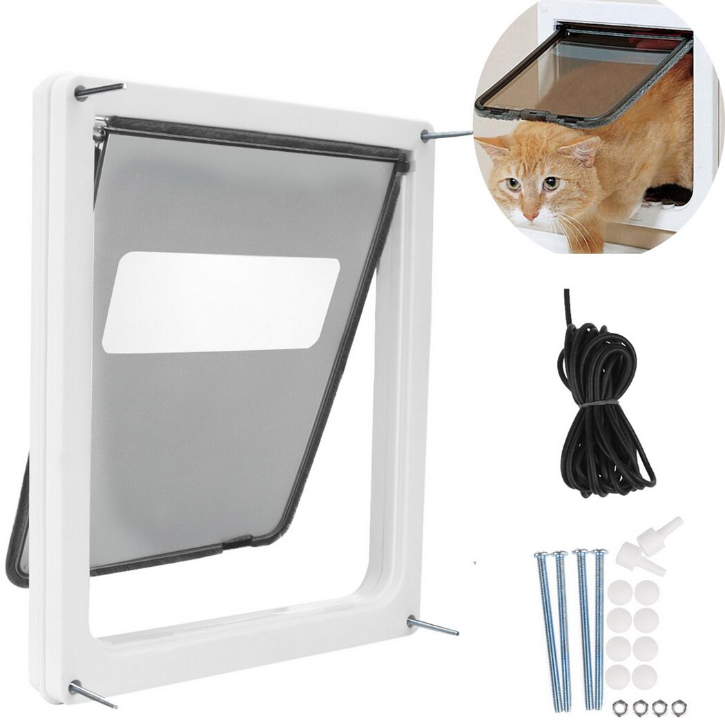 Homdox Large Telescoping Frame Dual Entry Extra Pet Door 2