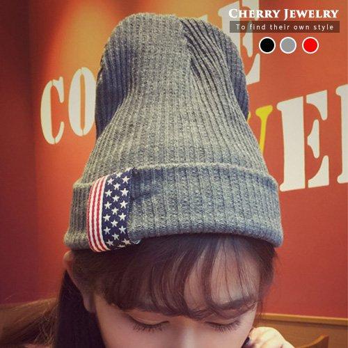 美國國旗造型毛帽10214【櫻桃飾品】【10214】