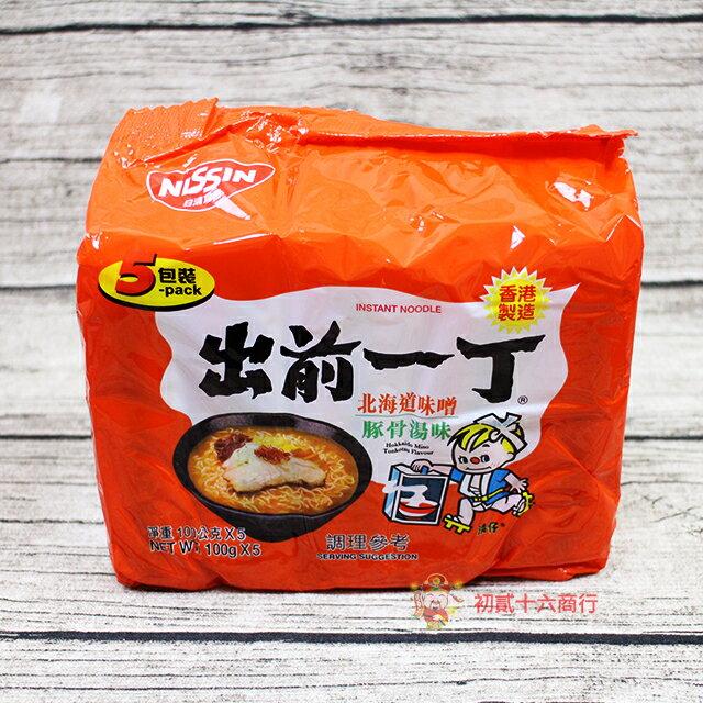 【0216零食會社】日本泡麵 出前一丁_北海道味噌豚骨湯味速食麵500g_5入