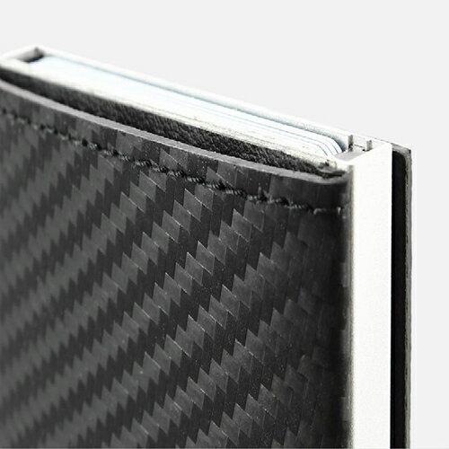 【日本代購】Cascade Wallet RFID 安全防盜真皮三摺錢包-碳纖維紋