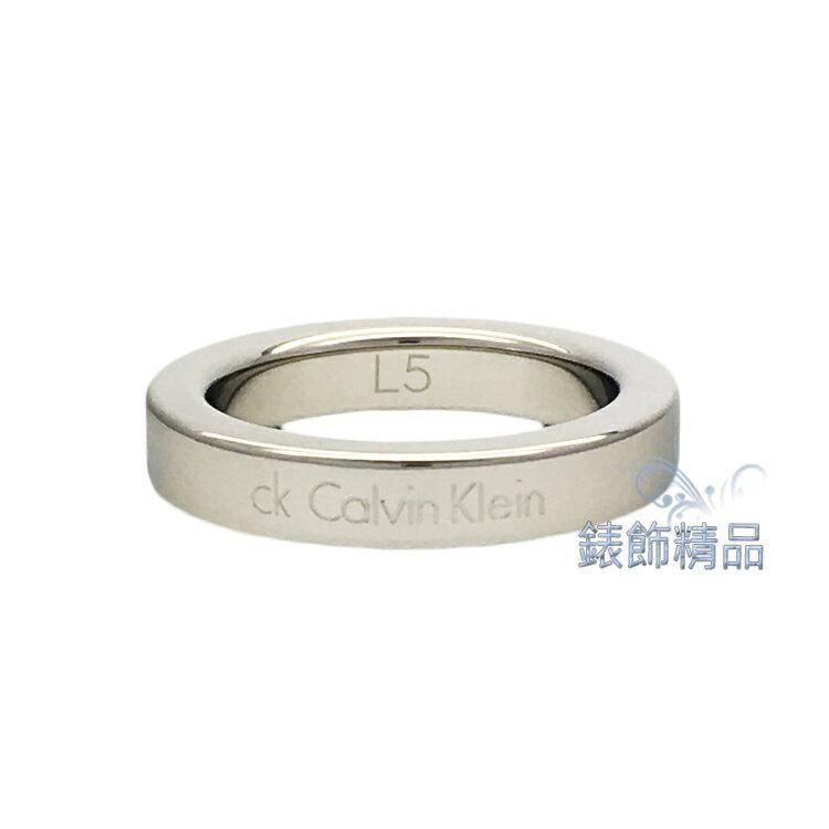 【錶飾精品】Calvin Klein CK飾品 KJ06MR0001 銀 Hook系列女性戒指 316L白鋼 原廠正品