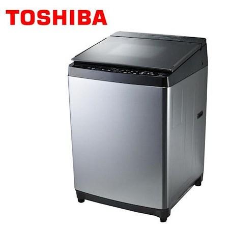 TOSHIBA 東芝鍍膜勁流雙渦輪超變頻15公斤洗衣機 髮絲銀 AW-DMG15WAG **免費基本安裝**