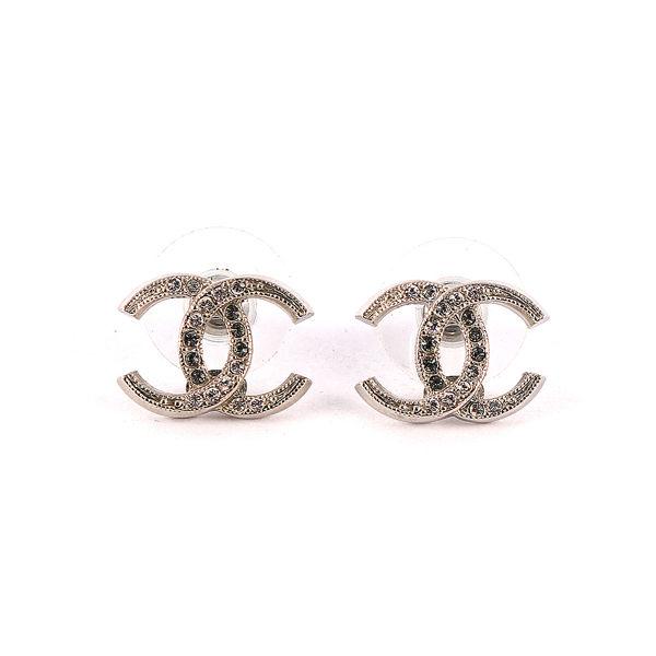 【CHANEL】CC logo半水鑽耳環 CH47100008