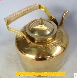 加厚黃銅壺銅水壺銅茶壺 1入