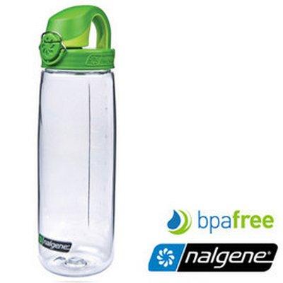 【Nalgene 美國】OTF 運動水壺 水瓶 隨身水壺 無雙酚A《透明∕綠色》(5565-4024) 【容量650ml】
