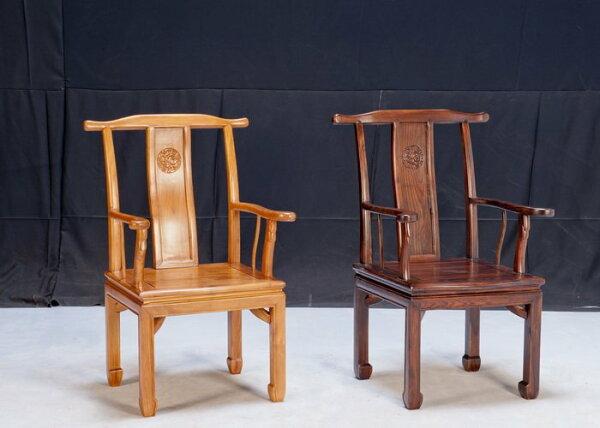 【石川家居】KL-95柚木中式扶手辦公椅寫字椅書桌椅扶手椅(左)(單張)台中以北搭配車趟免運費