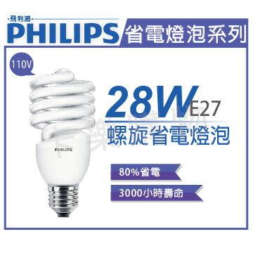 PHILIPS飛利浦Helix28W827黃光E27120V螺旋省電燈泡_PH160055