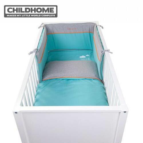 【安琪兒】比利時【Childhome】安全床圍-湖水藍 - 限時優惠好康折扣