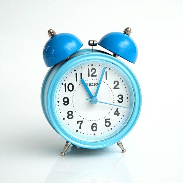 鬧鐘 SEIKO粉藍大聲公造型鬧鐘【NV19】柒彩年代