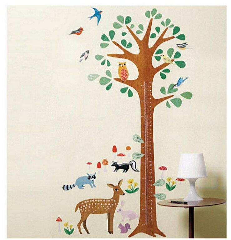 【寶貝樂園】美國Wallies創意輕鬆貼? 寶貝身高尺森林動物