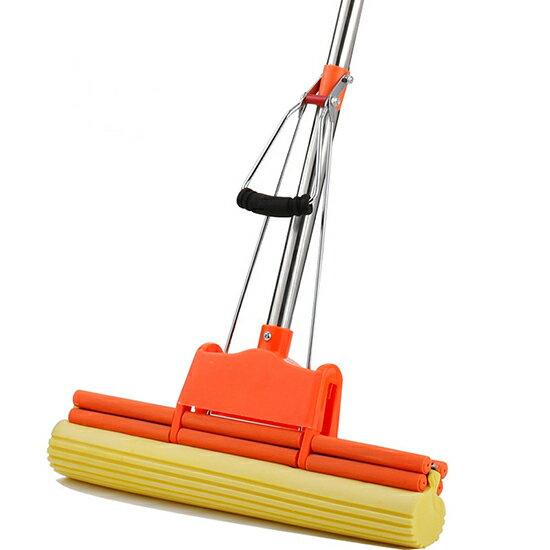 ♚MY COLOR♚超潔淨滾輪拖把 可替換 海綿 去汙 強力 吸水 螺絲 打掃 拖地 滾輪式 清潔【W74】