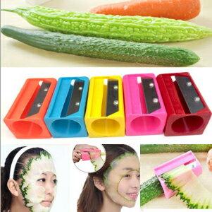 【省錢博士】讓你美削片器 / 黃瓜美容切片器 / 黃瓜面膜神器 / 神奇美容刀  / 隨機色  29元