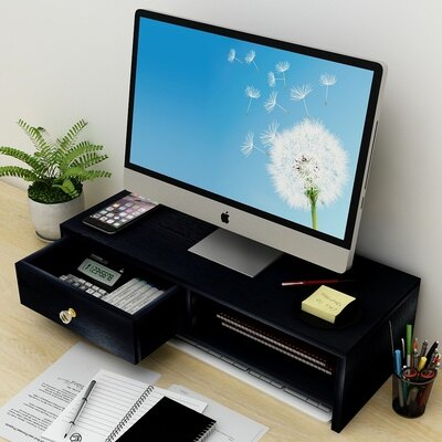 臺式電腦增高架 顯示器屏增高架子墊加高底座臺式電腦護頸抬高支架桌面收納置物架『SS3792』