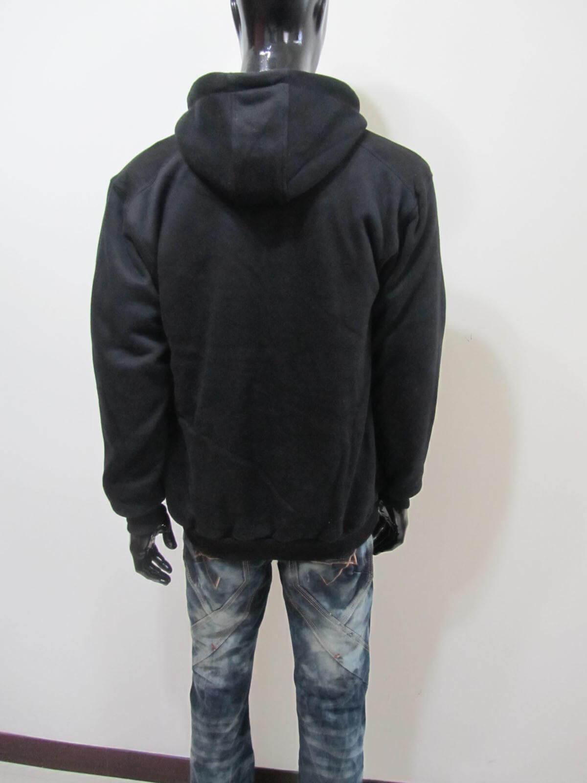 厚刷毛外套 保暖外套 連帽外套 夾克外套 休閒外套 黑色外套 Fleece Jackets Warm Jackets Casual Jackets Men's Jackets (312-2801-21)黑色 單一尺寸 F 胸圍46英吋 (117公分) 男 [實體店面保障]sun-e 2