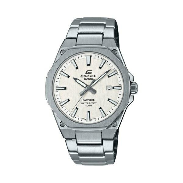 【CASIO卡西歐】EDIFICE 藍寶石玻璃鏡面輕薄錶殼 - 白 (EFR-S108D-7A)