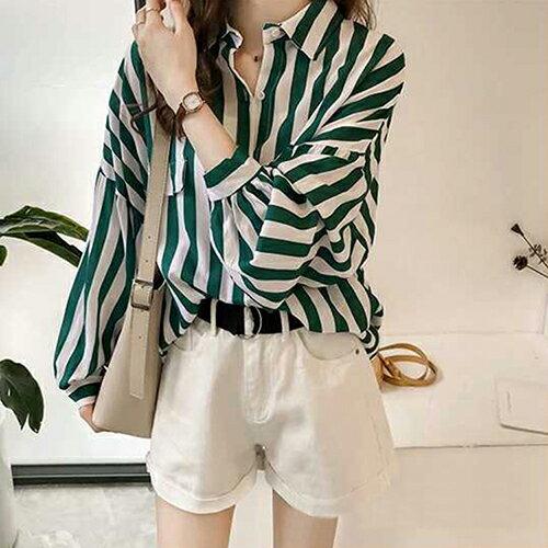 *ORead*寬鬆條紋襯衫(2色M~3XL) 0