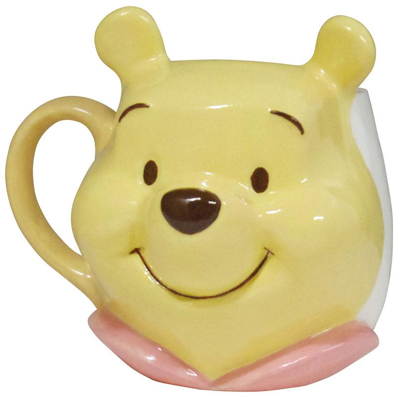 陶瓷 立體 2D大臉 馬克杯 小熊維尼pooh 大臉 HT8 迪士尼 茶杯 水杯 杯子 4942423246039 真愛日本